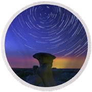 A Portal To Bisti Badlands Round Beach Towel
