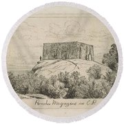 A Powder Magazine In Central Park From Scenes Of Old New York, By Henry Farrer, 1844-1903 Round Beach Towel
