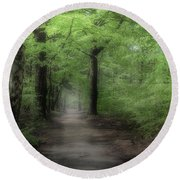 A Preview Of Speulderbos Round Beach Towel