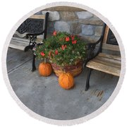 A Promise Of An Amish Harvest Round Beach Towel