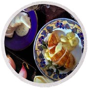 A Provence Luncheon Round Beach Towel