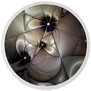 A Question Of Balance Round Beach Towel