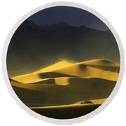 A Quiet Place Round Beach Towel
