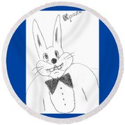 A Rabbit. Round Beach Towel