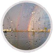 A Rainbow In My World #3 Round Beach Towel