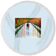 A Rainy Dayii Round Beach Towel