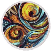 A Ray Of Hope Round Beach Towel
