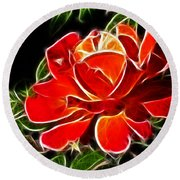 A Red Rose For You Round Beach Towel