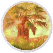 A Refreshing Change Of Scenery Round Beach Towel