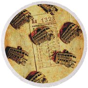 A Return To Old London Round Beach Towel