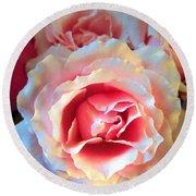 A Romantic Pink Rose Round Beach Towel