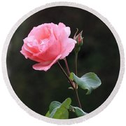 A Rose For Rodin Round Beach Towel