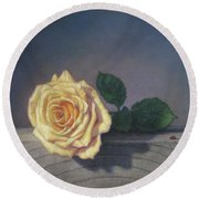 A Rose For The Little Lady Round Beach Towel