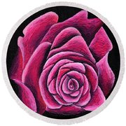 A Rose In Time Round Beach Towel