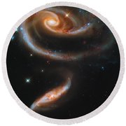 A Rose Made Of Galaxies Round Beach Towel