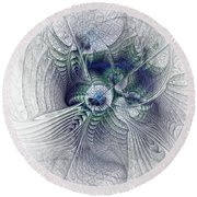 A Secret Sky - Fractal Art Round Beach Towel