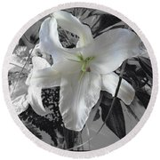A Sense Of Purity Round Beach Towel