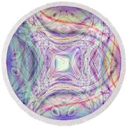 A Sign Of Life Round Beach Towel