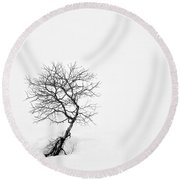 A Simple Tree Round Beach Towel