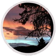 A Sky To Behold Round Beach Towel