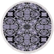 A Sliver Of Silver Abstract Round Beach Towel