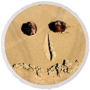 A Smile For You Round Beach Towel