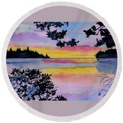 A Song Of Color Round Beach Towel