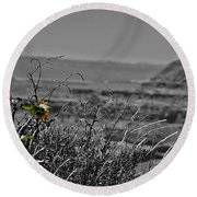 A Spark Of Innocence  Round Beach Towel