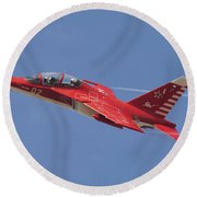 A Special Painted Yak-130 Performing Round Beach Towel