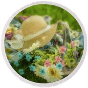 A Spring Afternoon Round Beach Towel