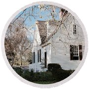 A Spring Day In Colonial Williamsburg Round Beach Towel