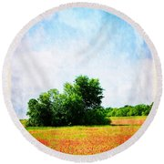 A Spring Day In Texas Round Beach Towel