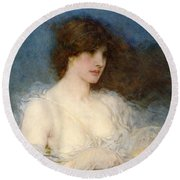 A Spring Idyll Round Beach Towel by George Henry Boughton