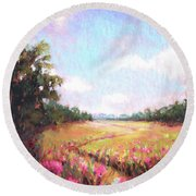 A Spring To Remember Round Beach Towel