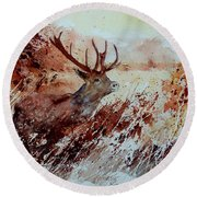 A Stag Round Beach Towel