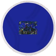 a star in Bethlehem Round Beach Towel