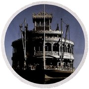 A Steamboat Coming Round Beach Towel