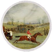 A Steeplechase - Another Hedge Round Beach Towel