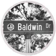 Ba - A Street Sign Named Baldwin Round Beach Towel