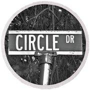 Ci - A Street Sign Named Circle Round Beach Towel