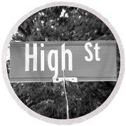 Hi - A Street Sign Named High Round Beach Towel