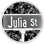 Ju - A Street Sign Named Julia Round Beach Towel