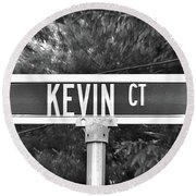 Ke - A Street Sign Named Kevin Round Beach Towel