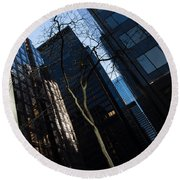 A Study In Contrasts - Downtown Toronto Miniature Park - Left Round Beach Towel