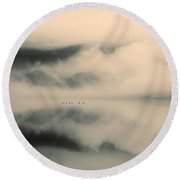 A Study Of Clouds Round Beach Towel