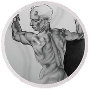 A Study Of Michelangelo Work Round Beach Towel