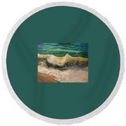 A Study Of Water Round Beach Towel