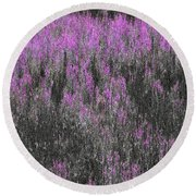 A Suggestion Of Wildflowers Round Beach Towel