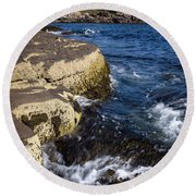 A Summer's Day At Nubble Light, York, Maine  -67969 Round Beach Towel