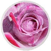 A Sweet Sweet Rose Round Beach Towel